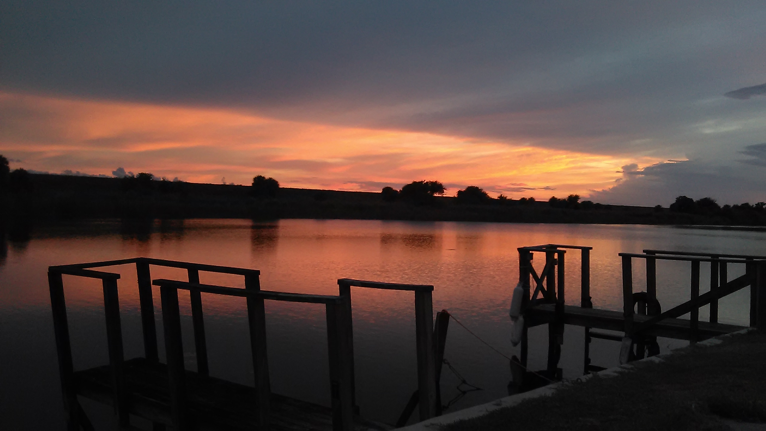 South central Floridas famous sunsets over the rim canal next to my tiny house